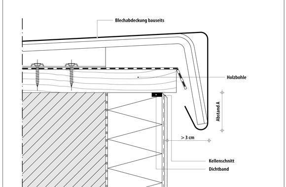 technische Zeichnung von einem Dach