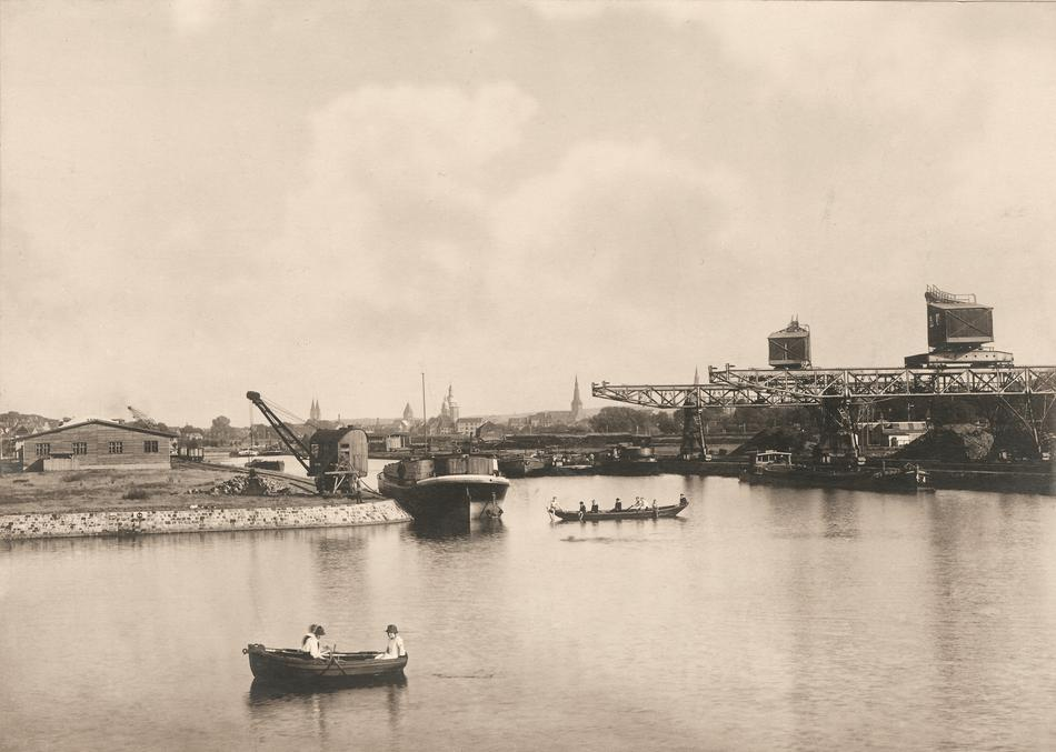 Historische Aufnahme des Osnabrücker Hafens