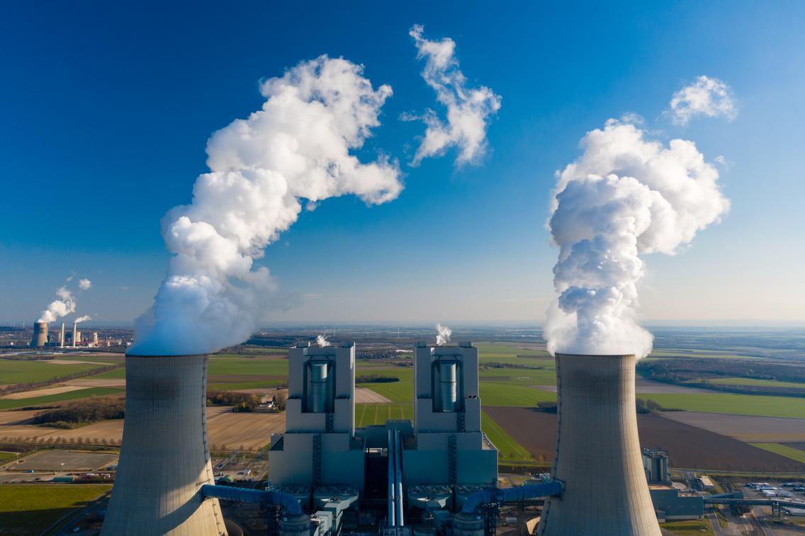 Kohle-Kraftwerk zur Stromerzeugung
