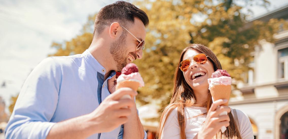 Gemeinsam Eis essen