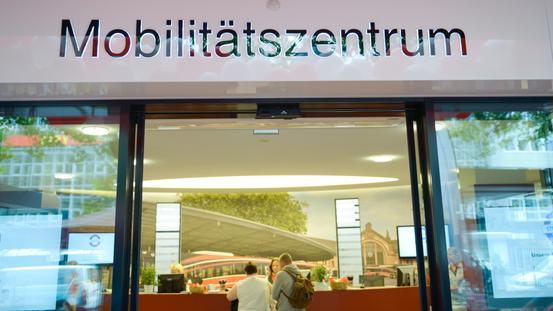 Eingang Mobilitätszentrum am Neumarkt in Osnabrück