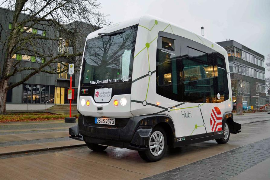 """Die """"Hubi""""-Testphase Zwei der Stadtwerke am InnovationsCentrum Osnabrück (ICO) startet."""