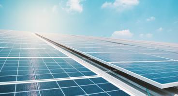 Solaranlage auf einem Dach