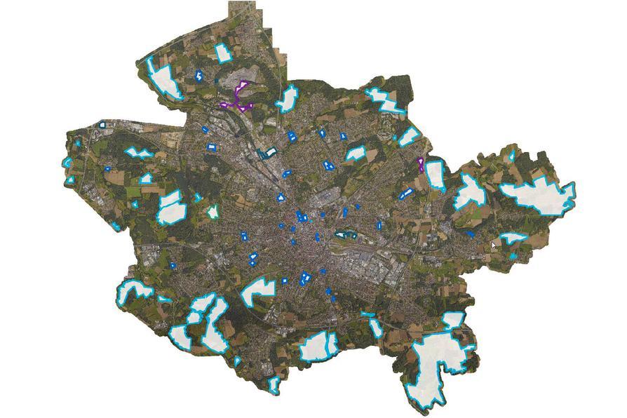 Karte zur Breitbandförderung in Osnabrück