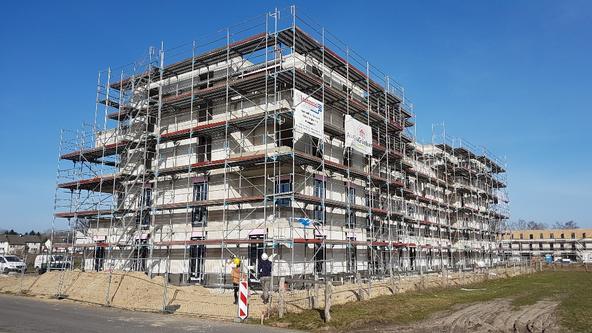 Bauprojekt Wohnbauprojekt Landwehrviertel - Rohbau Staffelgeschoss (Februar 2021)