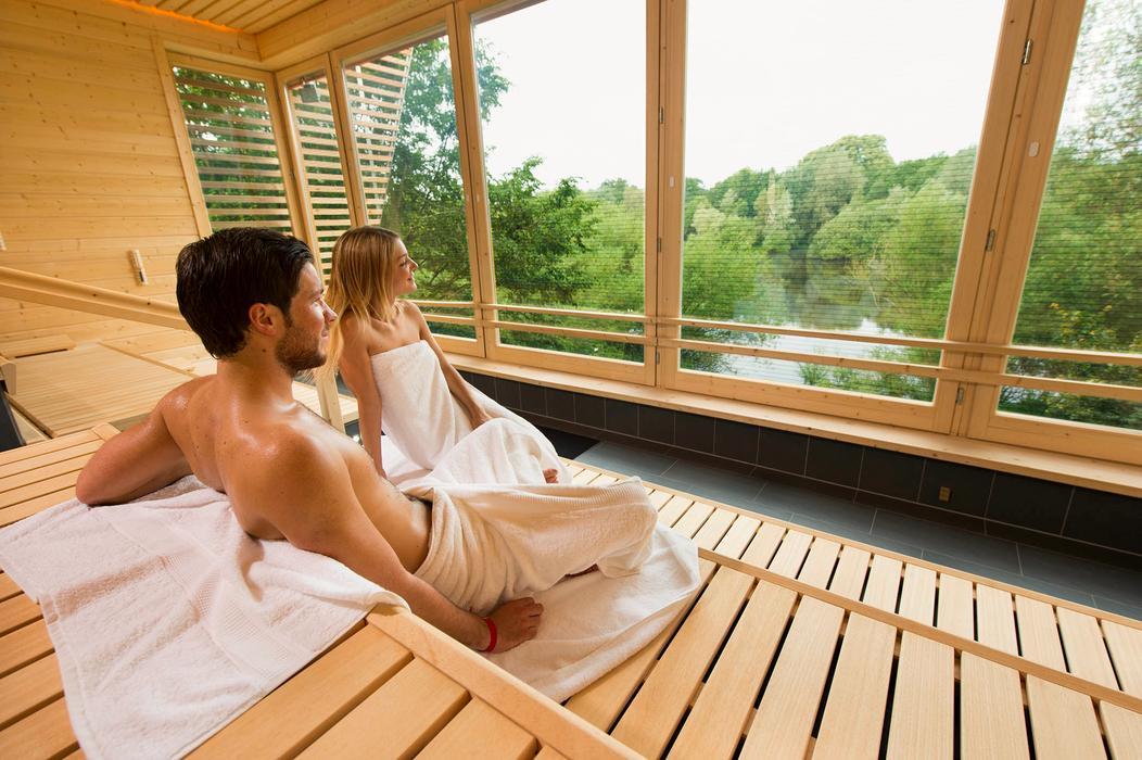 """See-Sauna """"Meri"""" mit Blick auf die Netteaue"""