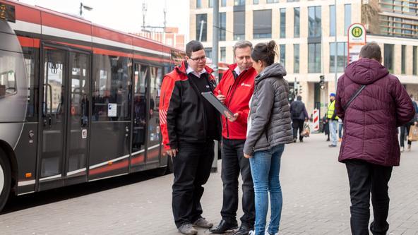 Mobilitätsberater der VOS am Neumarkt in Osnabrück