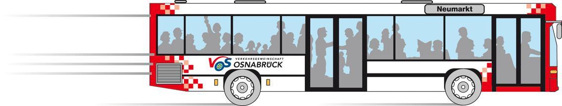 Model eines Bus der Verkehrsgemeinschaft Osnabrück (VOS)