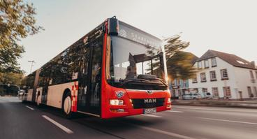 MAN-Bus der VOS im Osnabrücker Stadtgebiet