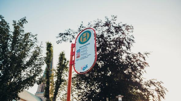 Haltestellenschild der VOS Osnabrück