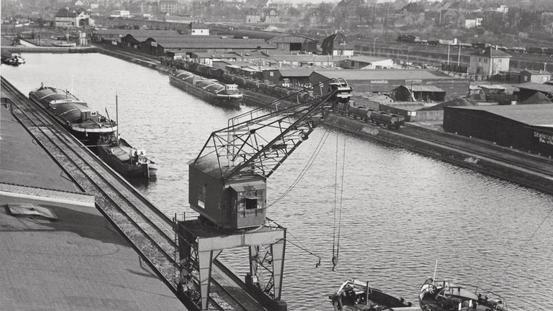 Historischer Blick auf den Osnabrücker Stadthafen