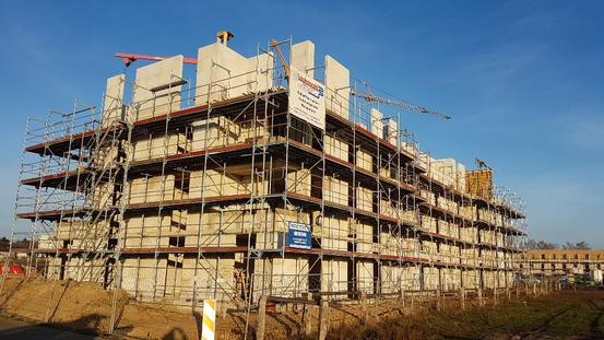 Bauprojekt Wohnbauprojekt Landwehrviertel - Rohbau Staffelgeschoss (November 2020)