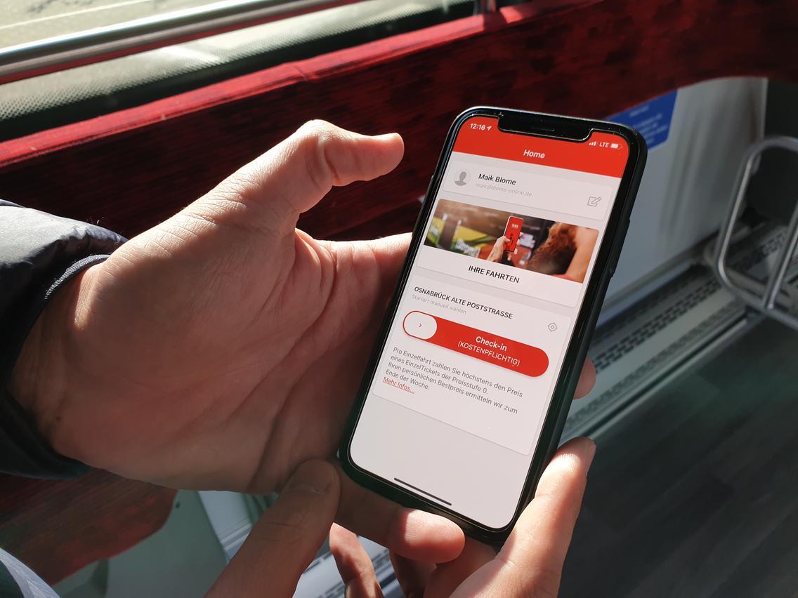 App Yaniq für Bestpreisabrechnung im Bus in Osnabrück