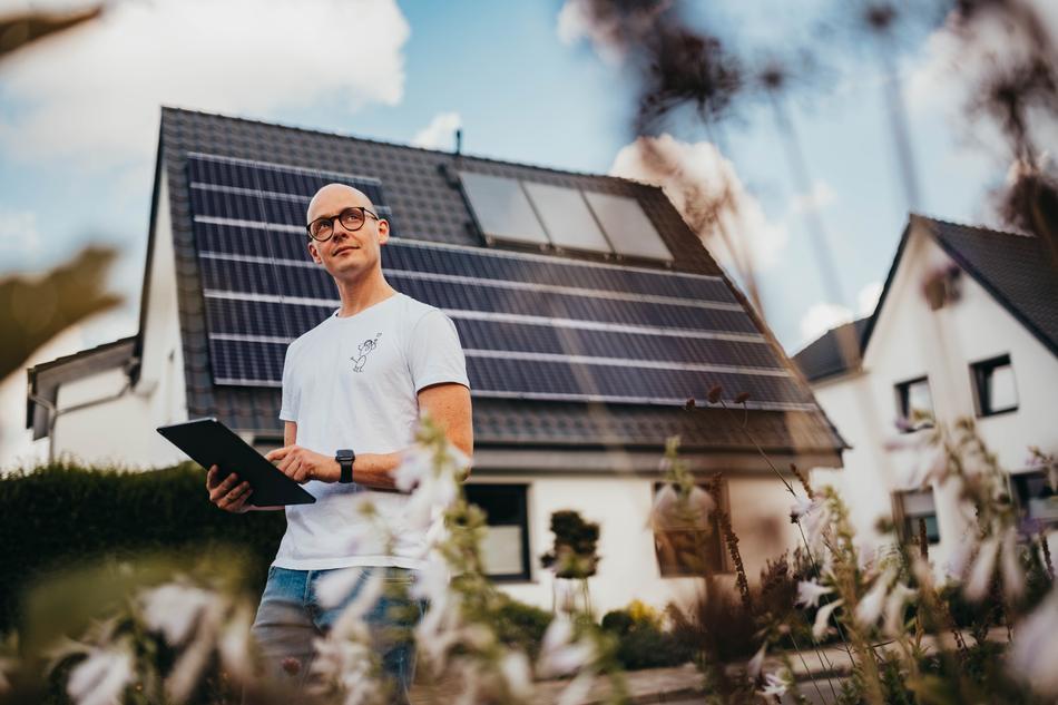 Tobi hat Sonnenenergie auf seinem Dach