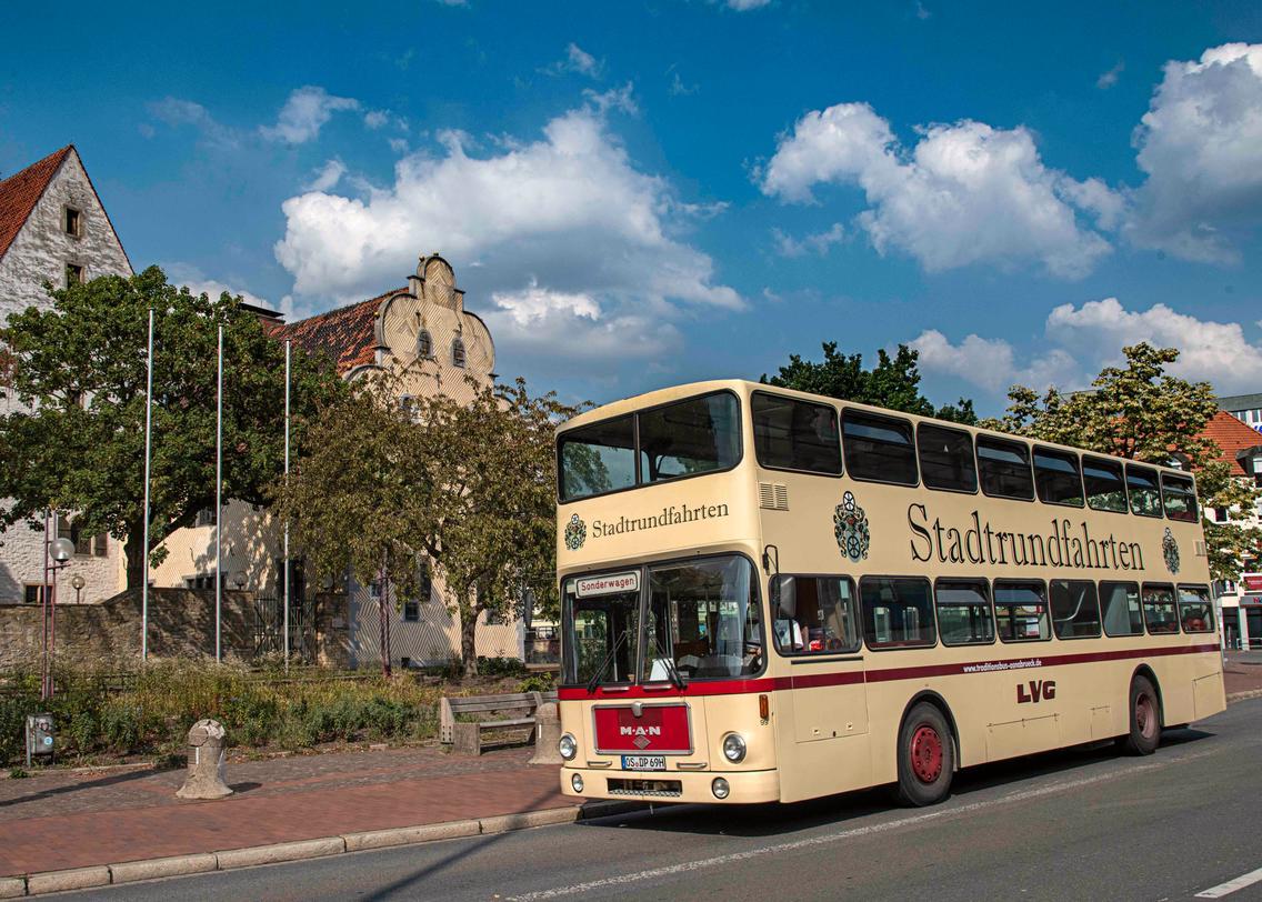 Wagen 99 wird bald wieder wissensdurstige Fahrgäste durch und um Osnabrück chauffieren.