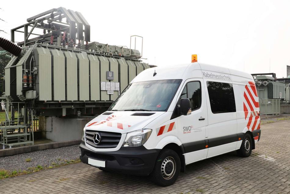 Messwagen der Kabelmesstechnik im Einsatz