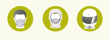 Mund-Nasen-Maske - Sturmhaube - Helm