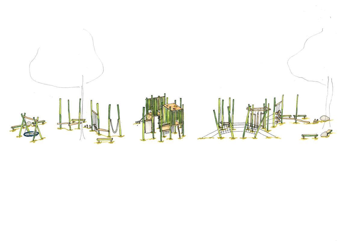 Entwurfsskizze Der Grüne Stangenwald Bereich 6 bist 12