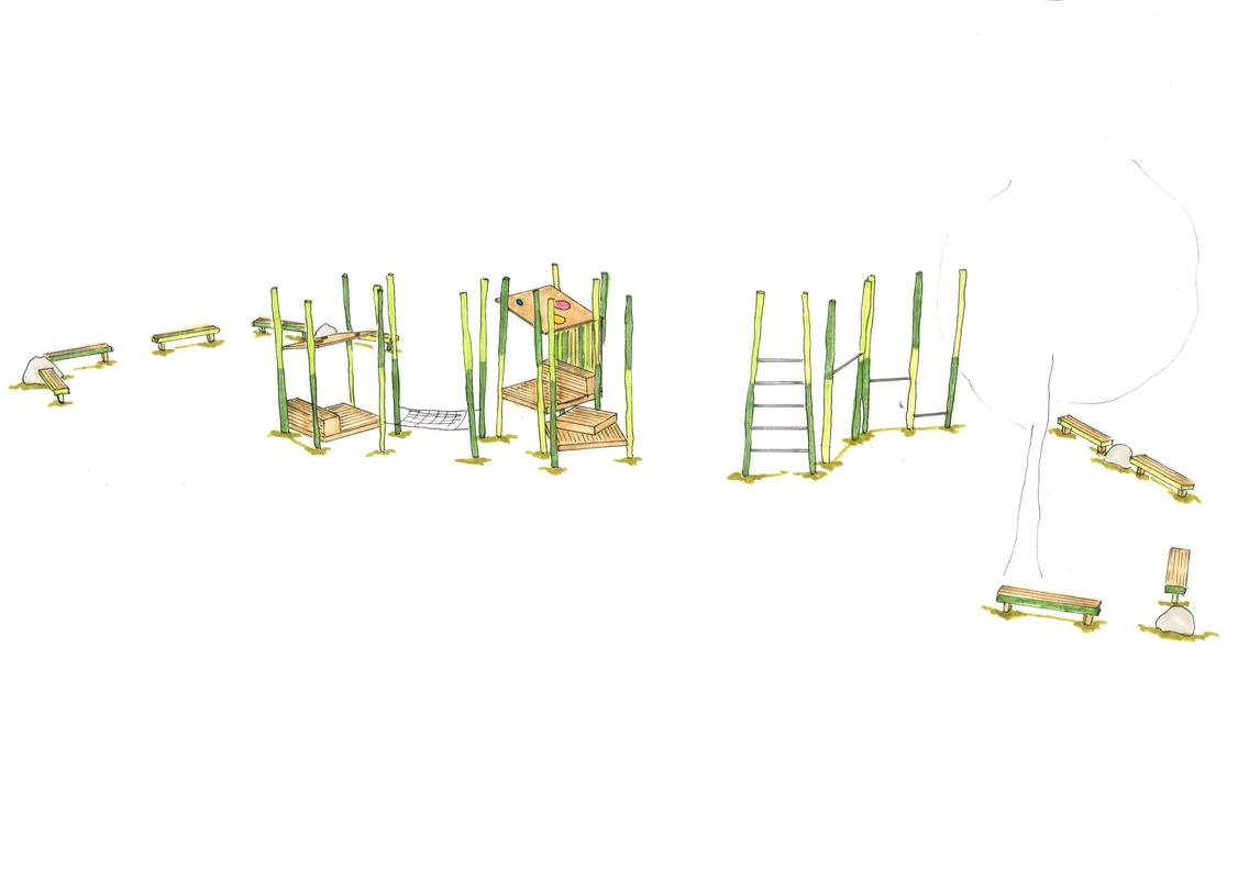 Entwurfsskizze Der Grüne Stangenwald Bereich 12