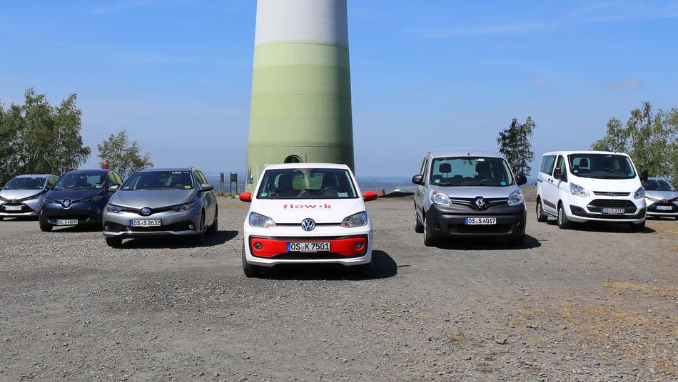 Carsharing Fahrzeuge des stadtteilautos am Piesberg in Osnabrück