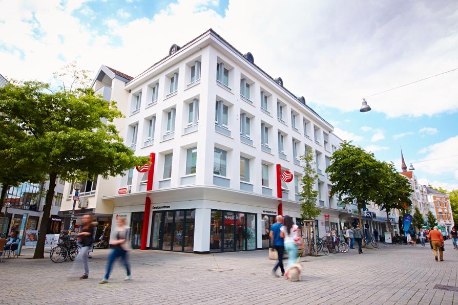 Außenansicht des Servicezentrum der Stadtwerke am Nikolaiort in Osnabrück