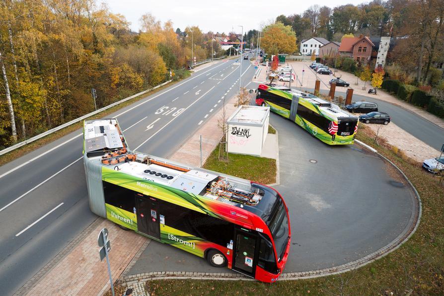 Die Endwende der MetroBus-Linie M3 in Sutthausen.
