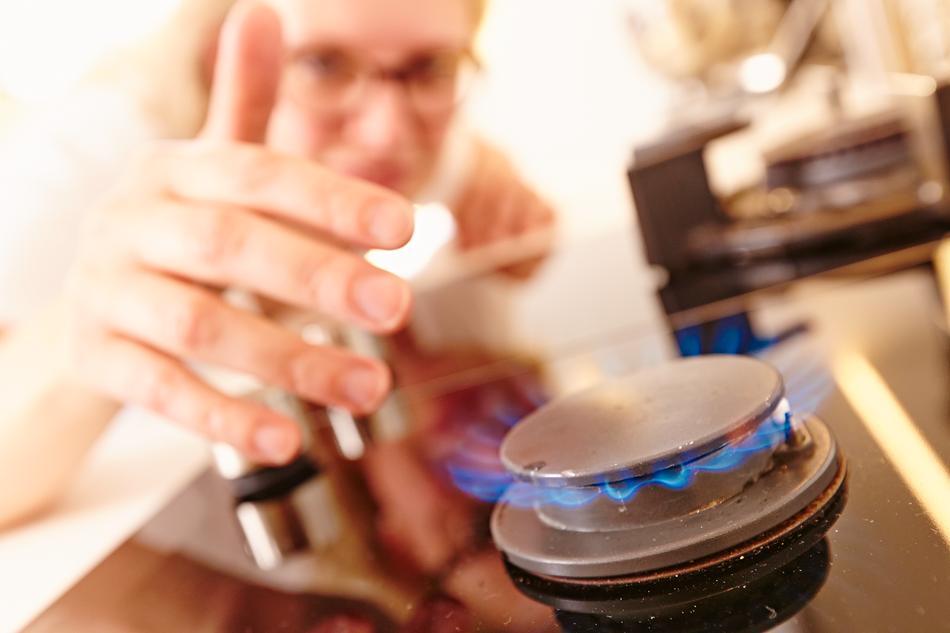 Erdgas-herd in der Küche
