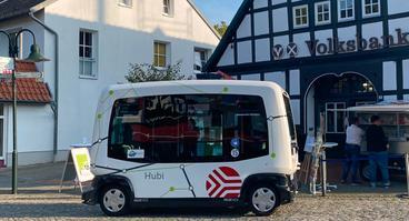 Hub Chain am Kurort in der Gemeinde Bad Essen im Einsatz