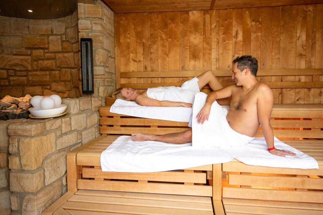 Blockhaus-Sauna Talo in der Loma-Sauna