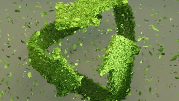 Recycling Symbol in Grün