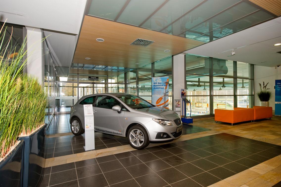 Werbefläche im Eingangsbereich