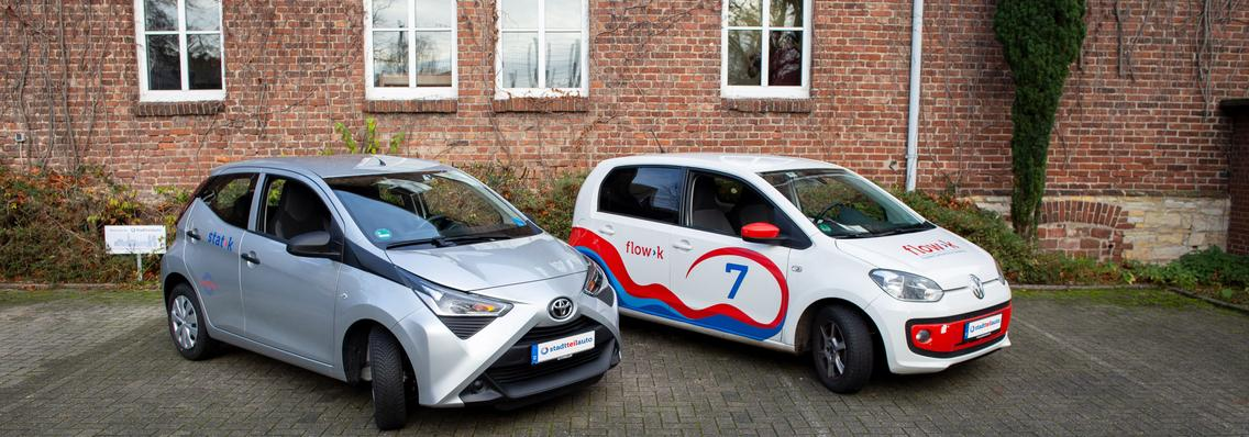Flow>car des Carsharing-Anbieters stadtteilauto