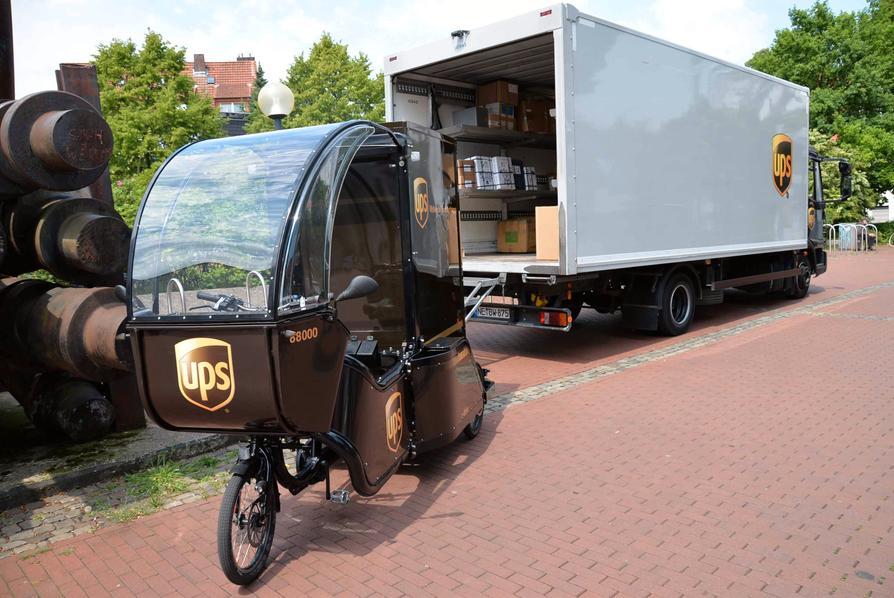 Das E-Cargo-Bike MovR von UPS ist seit sechs Wochen im Innenstadtbereich von Osnabrück unterwegs.