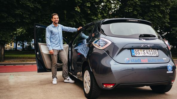 E-Auto Renault ZOE des Carsharing-Anbieters Stadtteilauto Osnabrück