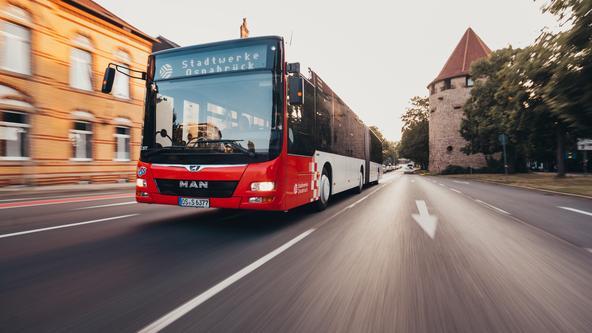 Bus der VOS auf dem Wallring in Osnabrück