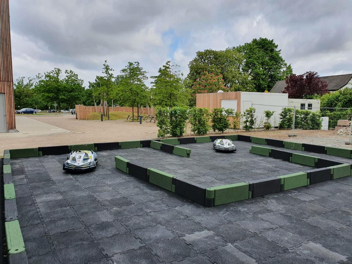 Kinderrennstrecke im Sommergarten am Nettedrom