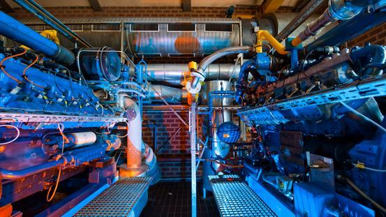 Blockheizkraftwerk in der Anlage Eversburg