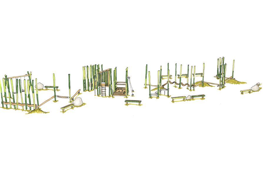 Entwurfsskizze Der Grüne Stangenwald Bereich 0 bis 6