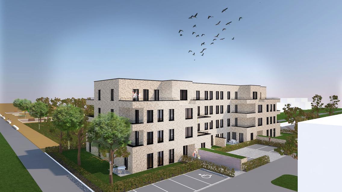 Projekt Grüne Mitte von WiO und ESOS im neuen Landwehrviertel im Osnabrücker Stadtteil Atter