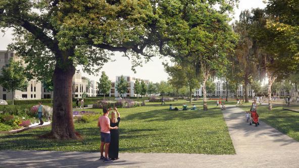 Grüne Mitte im Landwehrviertel