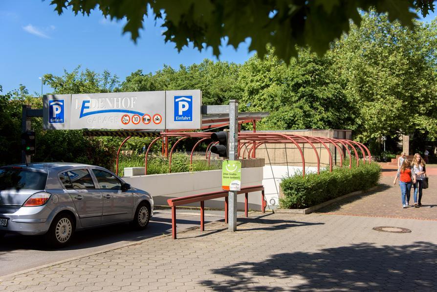 Die Zufahrt zum Parhaus Ledenhof-Garage der OPG.
