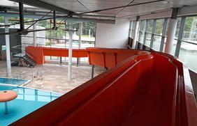 Weitere Attraktion in der Nettebad-Erlebniswelt wird die neue Stehrutsche.