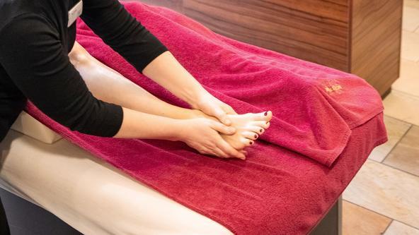 Fußreflexzonenmassage im Spa & Beauty
