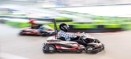 Rennen im E-Kart im Nettdrom