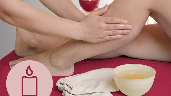 Kerzenöl-Massage im Spa & Beauty der Loma-Sauna