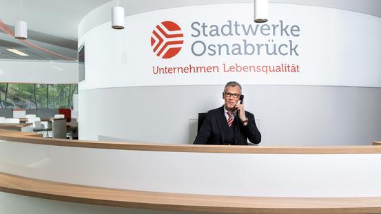Empfang in der Stadtwerke Zentrale Alte Poststraße
