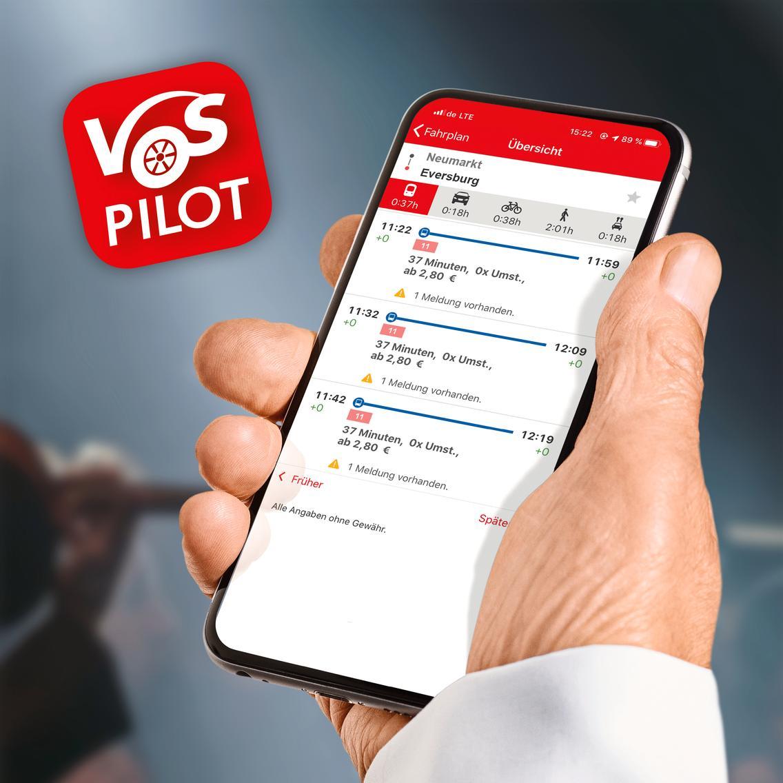 Fahrplanauskunft im VOSpilot