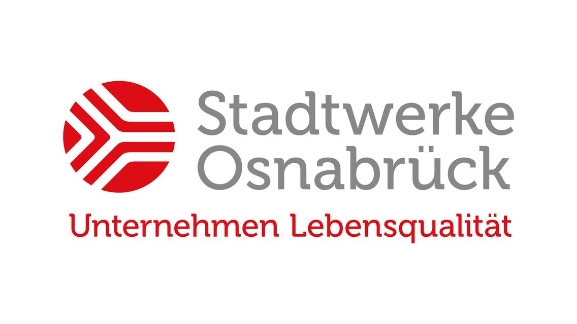 Logo der Stadtwerke Osnabrück mit Claim Unternehmen Lebensqualität