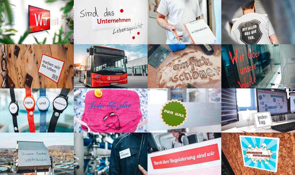 Collage zur Vision des Unternehmen Lebensqualität