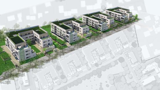 Wohnhöfe Große Eversheide - Außenperspektive